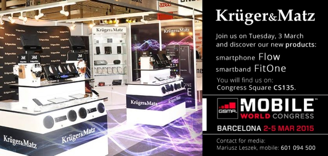 Kruger&Matz at Mobile World Congress 2015